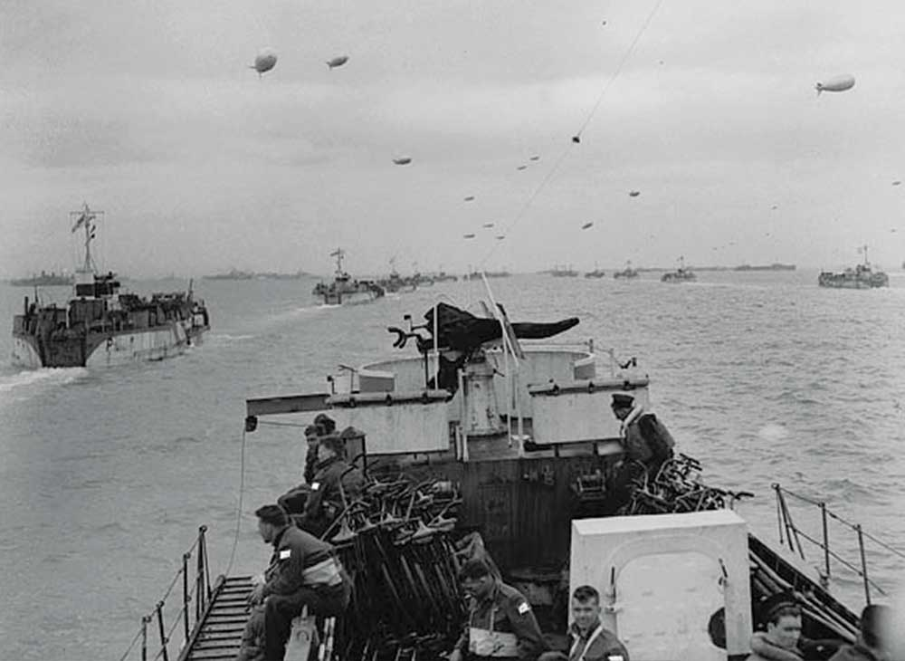 View from Flotilla en route to France on D-Day.