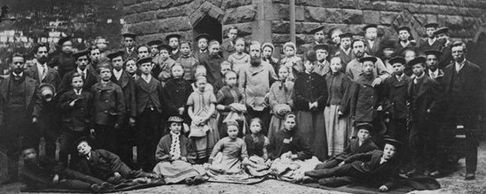 First group of children brought by the National Children's Home in 1873.
