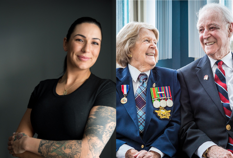 Now and then: Two generations of Veterans remember