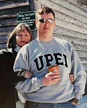 Sandy Mellish with her son, Warrant Officer Frank Mellish