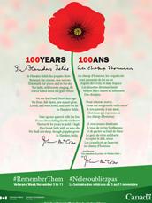 Veterans' Week 2015 - 100 Years In Flanders Fields